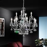 FL2155/12 Taffeta Crystal Multi Arm Light
