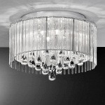 FL2160/6 Spirit Crystal Semi Flush Light