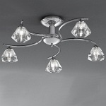 Raegan Chrome 5 Arm Semi Flush Light TP2162/5