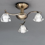 Raegan Bronze 3 Arm Semi Flush Light TP2163/3