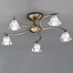 Raegan Bronze 5 Arm Semi Flush Light TP2163/5