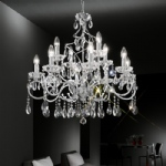 Chiffon 12 Arm Crystal Chandelier Chrome FL2188/12