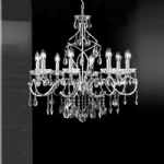 Chiffon 8 Arm Crystal Chandelier Chrome FL2188/8