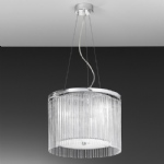Eros Chrome Ceiling Pendant Light FL2191/3