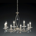 Monaco 8 Light Decorative Crystal Ceiling Light FL2225/8