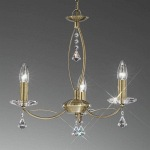 Monaco 3 Arm Crystal Ceiling Light FL2228/3