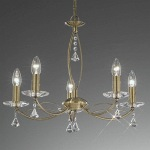 Monaco 5 Light Decorative Crystal Ceiling Light