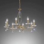 Monaco 8 Light Decorative Crystal Ceiling Light FL2228/8