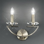 Artemis Double Crystal Wall Light