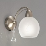 Thea Single Satin Chrome Wall Light FL2277/1