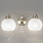 Thea Double Satin Chrome Wall Light FL2277/2