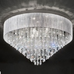 Perle 10 Light Flush Chrome and Crystal Ceiling Fitting TP2281/10