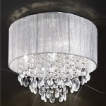 Perle Flush Crystal and Chrome 4 Light Ceiling Fitting TP2281/4
