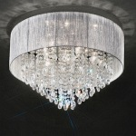 Royale Semi Flush Crystal Ceiling Light FL2281/7