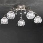 Jura Satin Nickel 5 Arm Ceiling Light FL2295/5