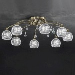 Jura Flush Ceiling 8 Light FL2296/8