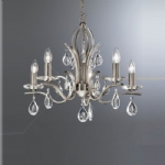 Willow 5 Arm Crystal Ceiling Light