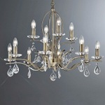 Willow Multi Arm Crystal Ceiling Light FL2299/12
