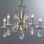 Ramona Bronze 5 Arm Crystal Ceiling Light TP2299/5