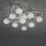 FL2325/9 Spirelle Semi Flush Ceiling Light