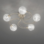 gyro 5 light semi flush ceiling light