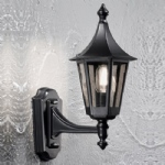 Boulevard Black Upwards Wall Lantern PJ1602-1