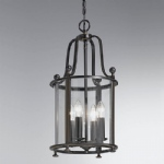 Silvia Four Light Antique Bronze Lantern Pendant PJ7001/4