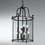 Silvia Eight Light Antique Bronze Lantern Pendant PJ7001/8
