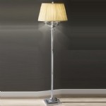 Crystal Glass Vase Floor Lamp