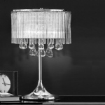 Prue Crystal Chrome Table Lamp WP853