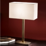 Bronze Rectangular Table Lamp Complete WP876/9867