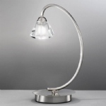 Raegan Satin Nickel Single Table Lamp WP971