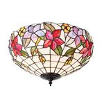 Country Border Twin Lamp Tiffany Flush Ceiling Light 70717