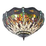 Dragonfly Flush Ceiling Tiffany 2 Light