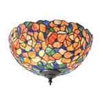 Josette 2 Lamp Tiffany Flush Ceiling Light 70720