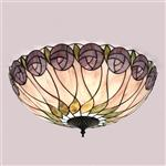 64173 Hutchinson Flush Tiffany Ceiling Light