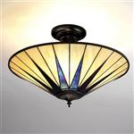 Dark Star Semi-Flush Tiffany Ceiling Fitting 64043