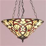 Ruban Inverted Tiffany Pendant Light 64319