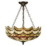 Vesta 3 Light Inverted Tiffany Pendant 64374