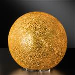 Chris Small Sphere Gold Crackle Table Lamp 95652