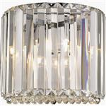 Belaney Curved Chrome/Crystal Single Wall Light 022CL1WAL
