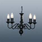Buckingham 5 Arm Ceiling Light Black