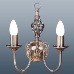 classic 2 Arm Antique Brass Wall light CLA2WAB