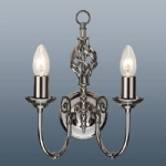 Classic 2 Arm gunmetal Wall Light CLA2WGM
