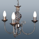 classic 3 Arm Antique Brass Light
