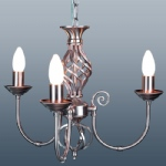 Classic Madison 3 Arm Satin Chrome Light CLA3SC