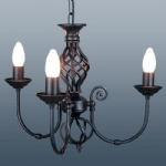 Classic 3 Arm Black Ceiling Light CLA3B