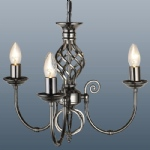 Classic 3 Arm gunmetal Ceiling Light CLA3GM