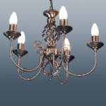 Classic 5 Arm Antique Brass Light CLA5AB