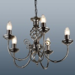 Classic 5 Arm gunmetal Ceiling Light CLA5GM